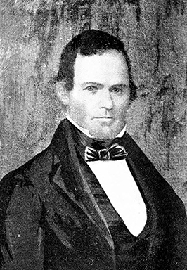A photograph of a portrait of James Graham. Image from the Internet Archive.