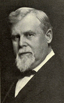 A photograph of William A. Graham, Jr. (1839-1923) published in 1911. Image from the Internet Archive.
