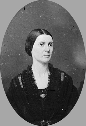 A photograph of Rose O'Neal Greenhow, circa 1855-1864. Image from the Library of Congress.