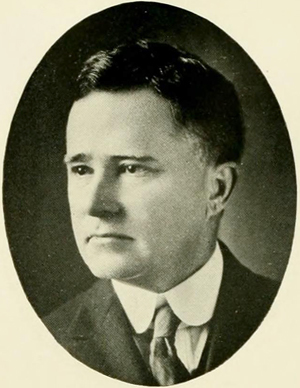 A photograph of Edwin Almiron Greenlaw published in the 1921 UNC yearbook. Image from the University of North Carolina at Chapel Hill.