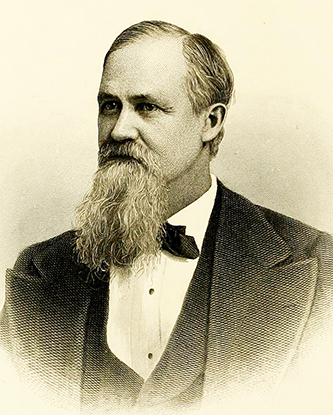 An 1880 engraving of Eugene Grissom. Image from Archive.org.