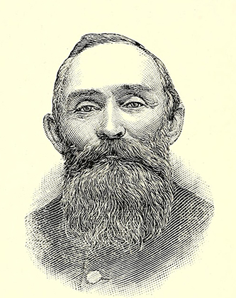 An engraving of William Bernard Harrell published in 1893. Image from the Internet Archive.