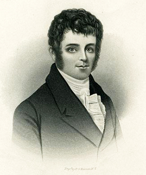 Engraving of William Hawkins. Image from the North Carolina Museum of History.