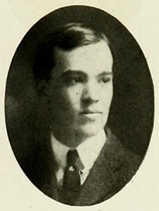 Photograph of Hubert Benbury Haywood, Senior, from the 1905 Yackety Yack. Image from the University of North Carolina at Chapel Hill