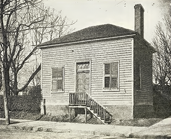 Photograph of the Henderson Law Office, circa 1917. The building was added to the National Register of Historic Places in 1971. Image from the North Carolina Digital Collections.