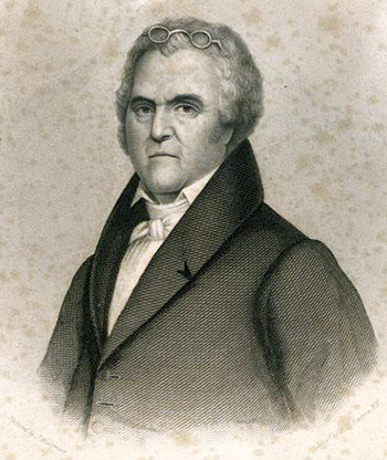 Engraving of Judge Leonard Henderson. Image from the North Carolina Museum of History.