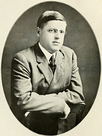 A photograph of Dr. Houston Boyd Hiatt published in 1919. Image from the Internet Archive.