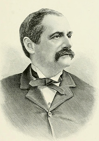 An engraving of John W. Hinsdale published in 1892. Image from the Internet Archive.