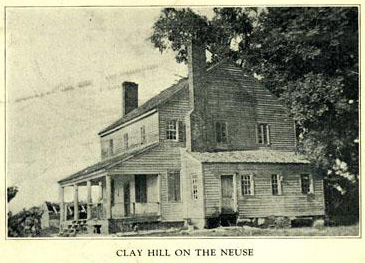 Clay-Hill-on-the-Neuse, the home of John Hinton (1748-1818). Photograph, Accession #: H.1933.14.3. 1923. North Carolina Museum of History.