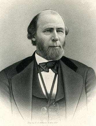 An engraving of governor William Woods Holden published in 1906. Image from the North Carolina Museum of History.