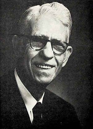 A photograph of Maloy Alton Huggins published in 1971. Image from the Internet Archive.