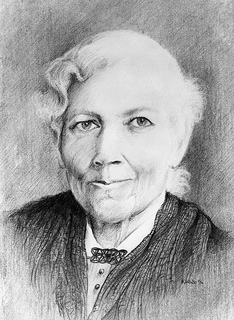 A drawing of Harriet Jacobs by Keith White, 1994. Image from the State Archives of North Carolina.