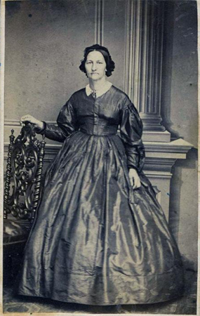 Photographic portrait of Eliza McCardle Johnson, wife of President Andrew Johnson, made circa 1870-1890.  From the collections of the N.C. Museum of History.