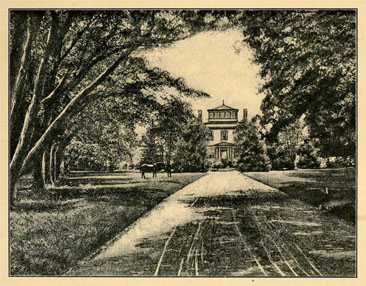 Illustration of Hayes House, seat of Governor Samuel Johnston.  From the <i>North Carolina Booklet,</i> Vol. II, No. 8, [p. 34-35], published 1903 by the North Carolina Society of the Daughters of the Revolution. Presented on Archive.org.