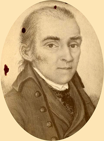 Photograph of a miniature portrait of Allen Jones. Image from the New York Public Library Digital Gallery.