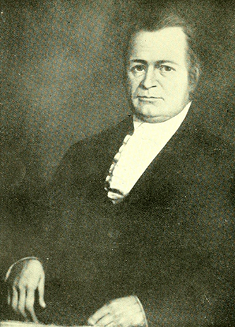 A portrait of Dr. Calvin Jones (1775-1846). Image from the Internet Archive.