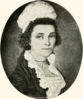 Elizabeth Jones Williams, daughter of Robin Jones, and wife of governor Benjamin Williams. Image from Archive.org.