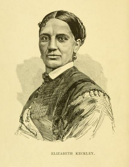 Engraved portrait of Elizabeth Keckly (Keckley), from <i>Behind the Scenes; or, Thirty Years a Slave, and Four Years in the White House</i>, published 1868 by G.W. Carleton & Co., New York.