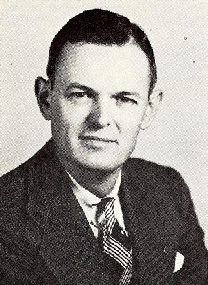 A photograph of Henry Eli Kendall, Jr. published in 1956. Image from the Internet Archive.