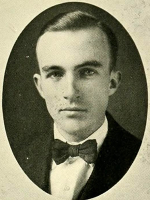 John Hosea Kerr, Junior's 1921 college yearbook photo. Image from the University of North Carolina at Chapel Hill.