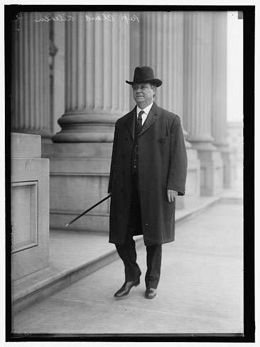 Photograph of Claude Kitchin, Representative from North Carolina, 1914. By Harris & Ewing, from the Harris & Ewing Collection, Library of Congrees Prints & Photographs Online Catalog.