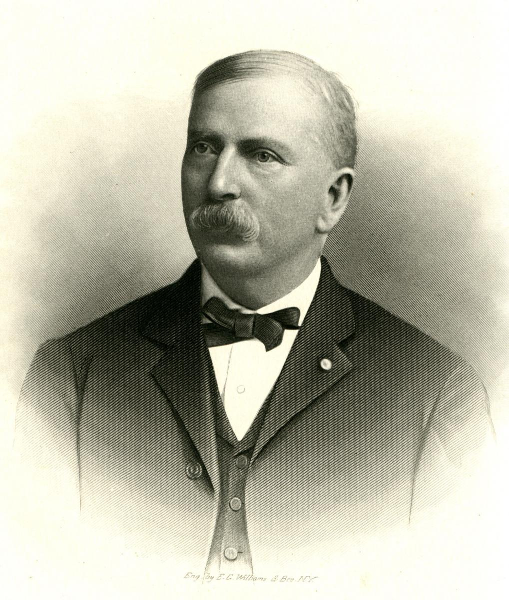 Engraved portrait of Wilson Gray Lamb, from Samuel Ashe's <i>Biographical History of North Carolina</i>, Volume 7, [p. 280-281], published 1908 by Charles L. Van Noppen Publisher, Greensboro, North Carolina.  From the collections of the Government & Heritage Library, State Library of North Carolina.