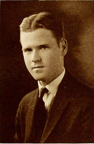 Senior portrait of John Tate Lanning.  From the 1924 Trinity College yearbook <i>The Chanticleer,</i> Volume XI.  Published 1934 by the Senior Class of Trinity College, Durham, North Carolina.