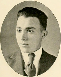 A photograph of Hugh Talmage Lefler from the 1921 Trinity College yearbook. Image from the University of North Carolina at Chapel Hill.