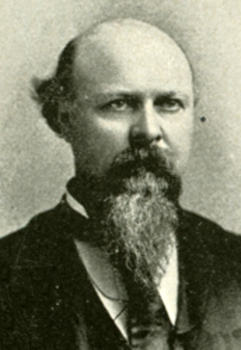 Photographic portrait of James Alexander Lockhart, from Edgar Murlin's <i>The United States Red Book</i>, published 1896, James B. Lyon, Publisher, Albany.  Presented on HathiTrust.