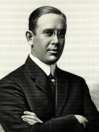 An engraving of George Leonidas Lyon published in 1917. Image from the Internet Archive / N.C. Goverment & Heritage Library.