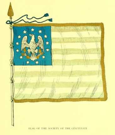 Image of the Flag of the Society of the Cincinnati, from Charles Lukens Davis's <i>North Carolina Society of the Cincinnati</i>, [p. 64-65], published 1907 by the North Carolina Society of the Cincinnati. Archibald Lytle was a member of the Society of the Cincinnati. Presented on Archive.org.