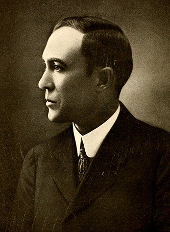 A photograph of Angus Dhu MacLean published in 1919. Image from the Internet Archive.