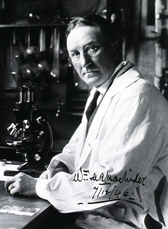 An autographed photograph of Dr. William MacNider. Image from the Images from the History of Medicine, U.S. National Library of Medicine.