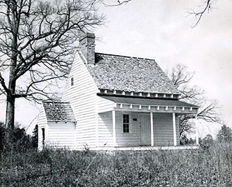 A 1954 photograph of Buck Springs, the home of Nathaniel Macon, near Warrenton. Image from the North Carolina Museum of History.