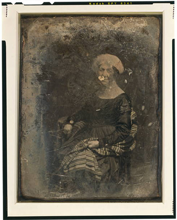 Half plate daguerreotype portrait of Dolley Madison, 1848, created by Matthew Brady. From the Daguerreotype Collection, Library of Congress Prints & Photographs Online Catalog.