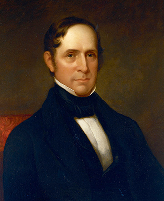 An 1844 portrait of Willie Person Mangum by James Reid Lambdin. Image from the United States Senate.