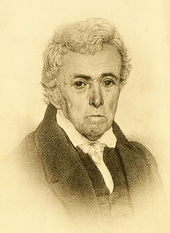 An 1882 engraving of Francois-Xavier Martin. Image from Archive.org.