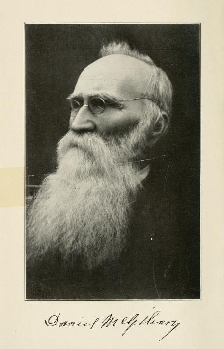 Portait of Daniel McGilvary.  From <i>A half century among the Siamese and the Lao : an autobiography,</i> by Daniel McGilvary, published 1912 by Fleming H. Revell Company, New York. Presented on Archive.org.