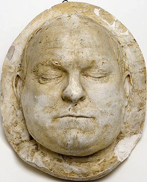 The death mask of Dr. Charles Duncan McIver. Image from the University of North Carolina at Greensboro.
