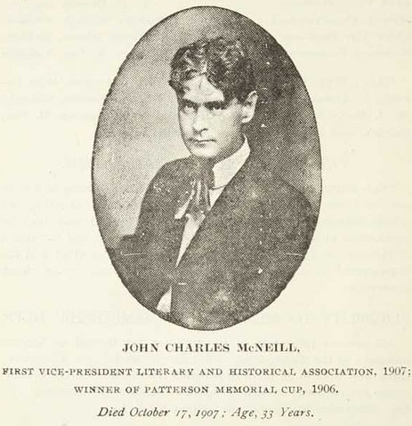 John Charles McNeill. Photo is courtsey from the North Carolina Digital Collection.