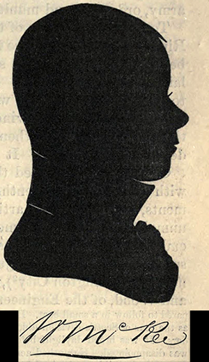 The silhouette and signature of William McRee. Image from Archive.org.