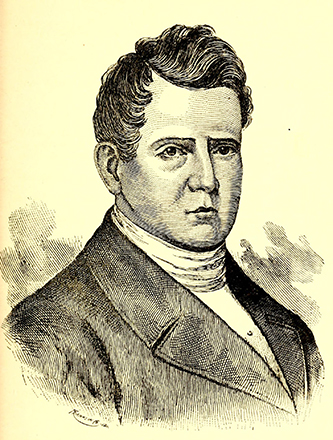 An engraving of Thomas Meredith published in 1912. Image from the Internet Archive.