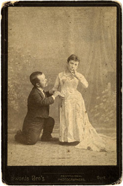 Photograph of John and Mariah Nail Mertz, circa 1883, from the Davie County Public Library, Digital Davie.  Image used by permission from the Davie County Public Library.