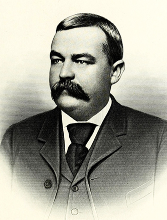 An engraving of James Henry Millis published in 1917. Image from the Internet Archive / N.C. Goverment & Heritage Library.