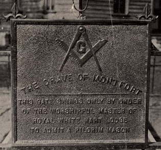 Bronze tablet marking the grave of Joseph Montfort. Image from the North Carolna Museum of History.