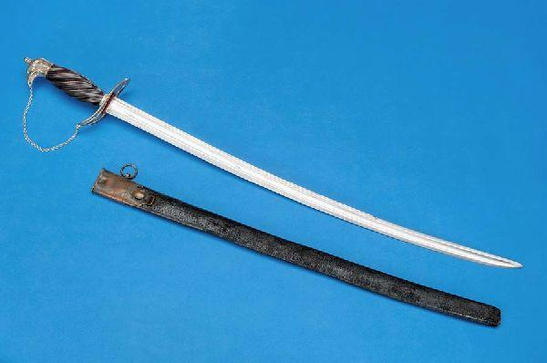 Sword  associated with James Moore and used during the American Revolution. Item #H.1914.171.1, from the collections of the North Carolina Museum of History.