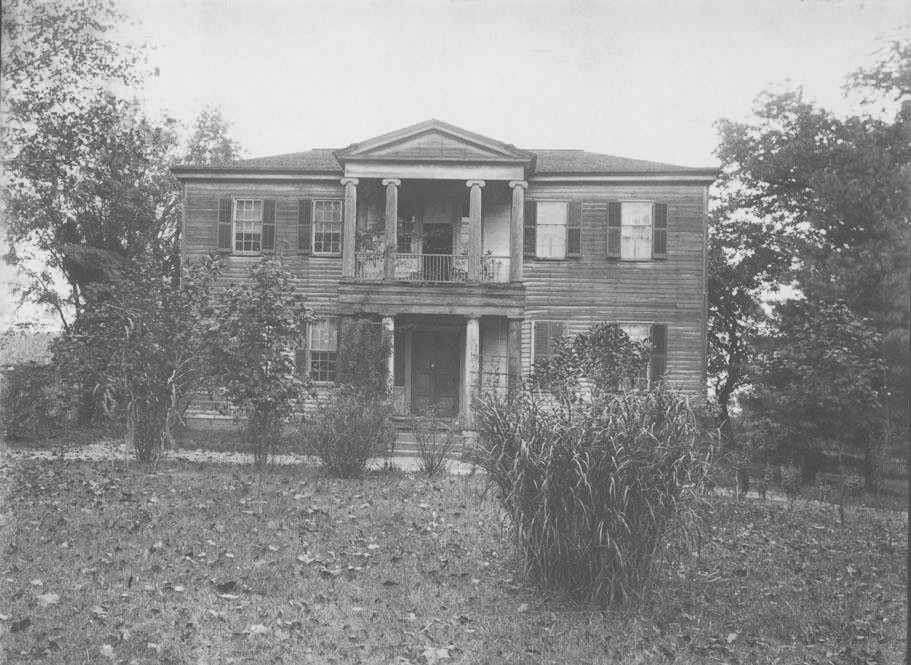 Mordecai House, Raleigh, N.C. Photograph circa 1896-97.  From the collections of the North Carolina Museum of History.