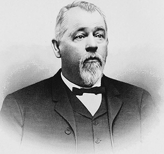 A 1905 engraving of Mark Morgan. Image from Archive.org.