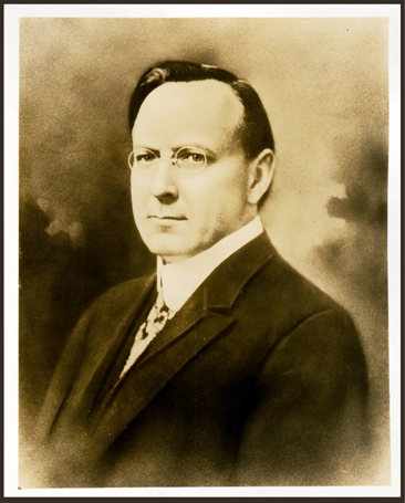 "Edwin Dubose Mouzon, portrait circa 1924, by Elmer T. Clark.  From the collections of the Bridwell Library, Southern Methodist University. Used by permission from the Bridwell Library.  The back side of the image bears the stamp ""Copyright 1924 by Elmer T. Clark Not to Be Reproduced."""