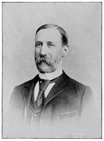 Portrait of the Hon. James M. Mullen, from George S. Bernard's <i>War Talks of Confederate Veterans,</i> published 1892 by Fenn & Owen, Publishers, Petersburg, Virginia.  Presented on Archive.org.